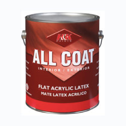 Краска для внутренних работ ALL COAT FLAT ACRYLIC LATEX